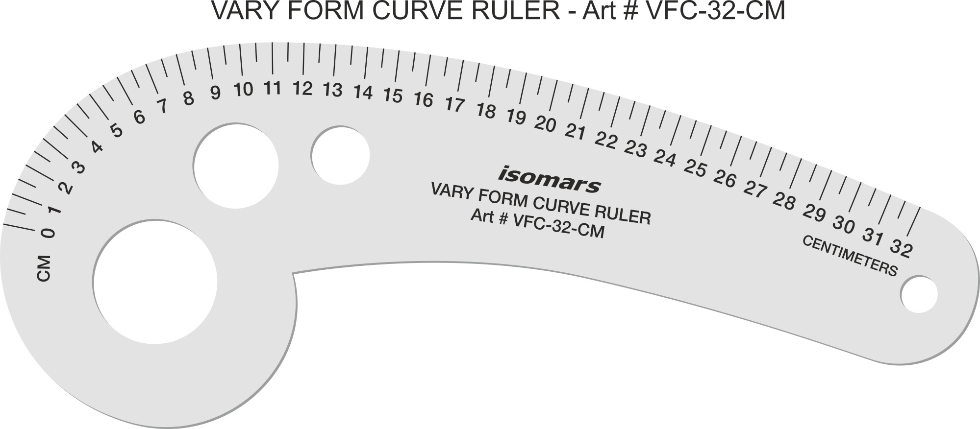 This is a picture of Printable French Curve inside labelled